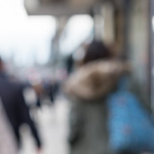 Blurred image of People walking on the street