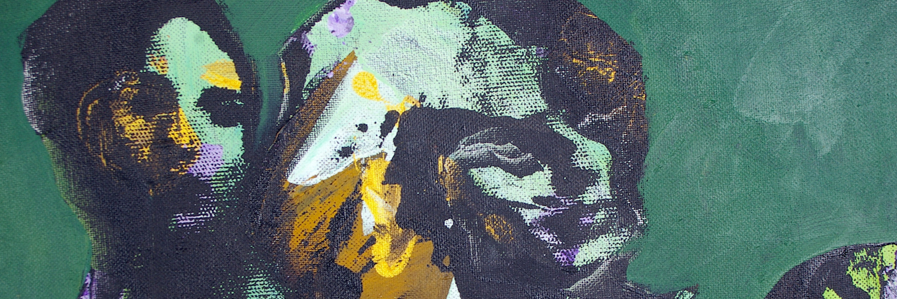 abstract paining of a woman