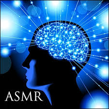 image of a person's brain with 'ASMR' text