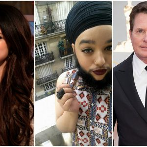 selena gomez harnaam kaur and michael j fox