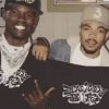 Matt Maxey, Chance the Rapper, Kelly Kurdi holding DEAFinitley Dope shirts