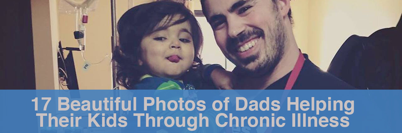 17 beautiful photos of dads helping their kids through chronic illness