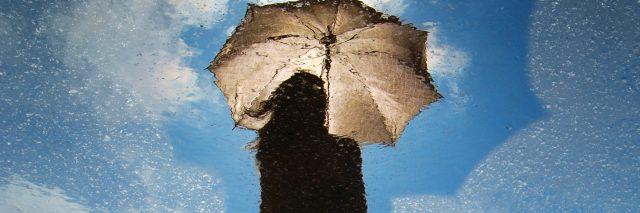 woman rain umbrella