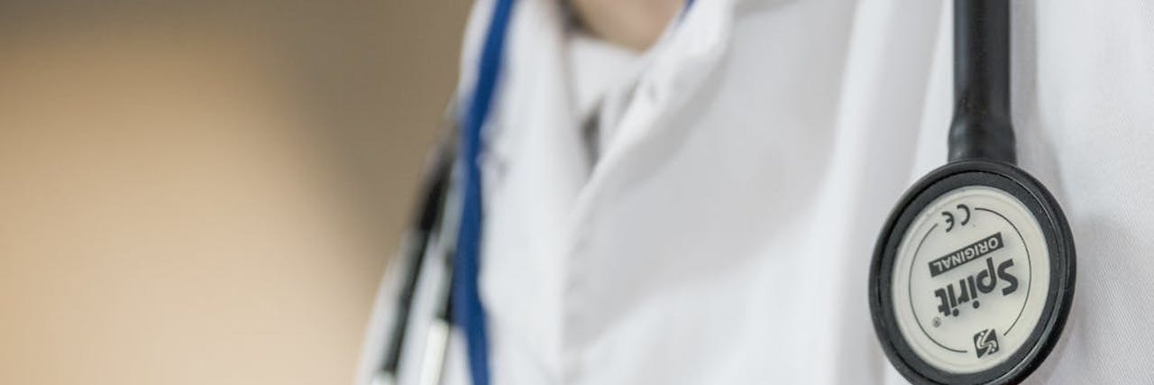 doctor's lab coat with stethoscope