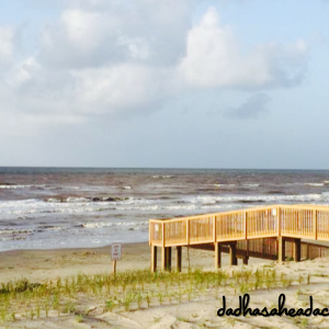 boardwalk leading to the beach in galveston