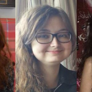 three images of a woman's face over three years