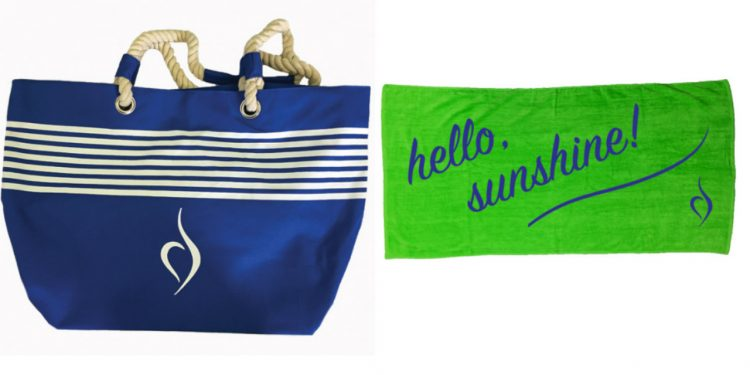 NEDA beach bag and towel