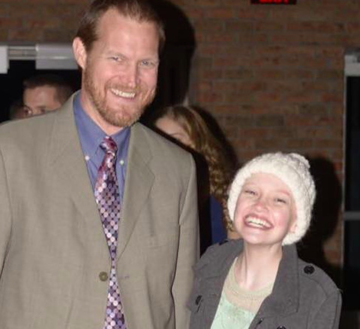 The author with his daughter, both smiling