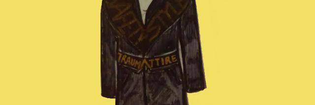 sketch of a coat