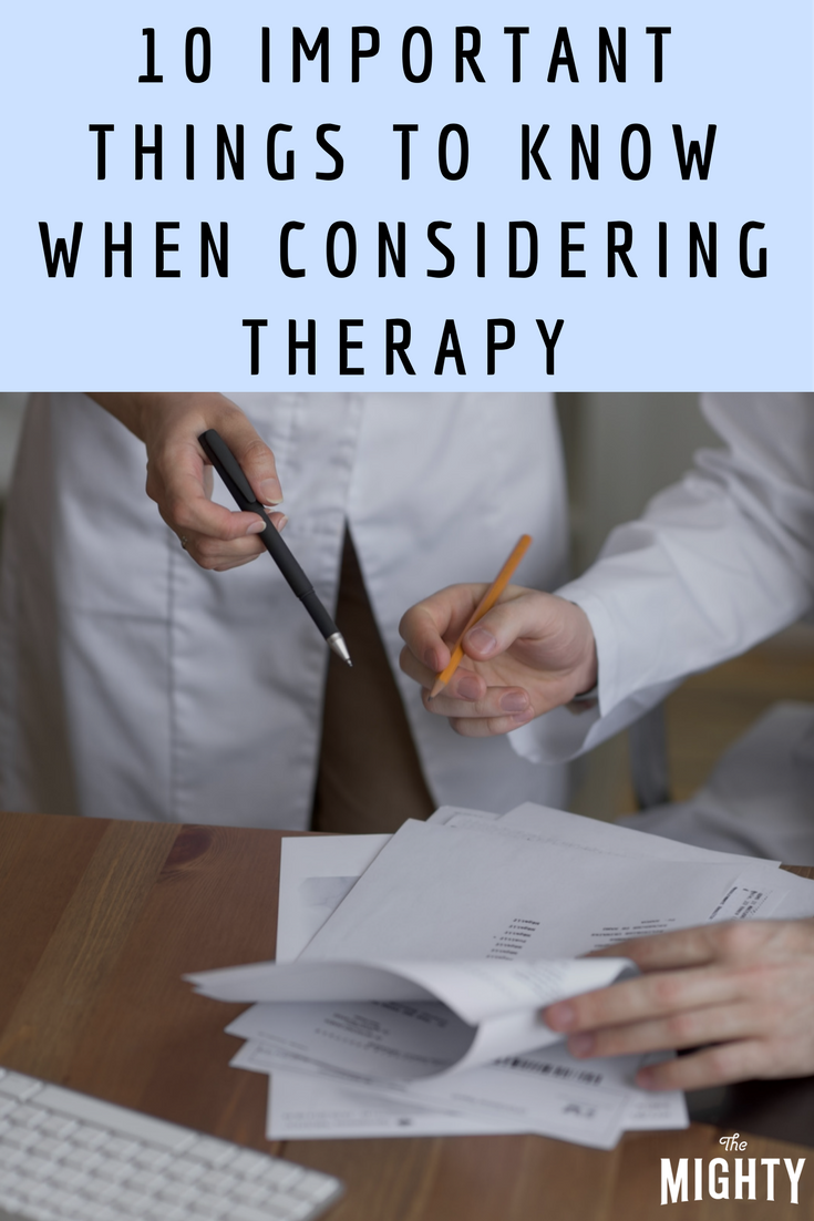 10 Important Things to Know When Considering Therapy