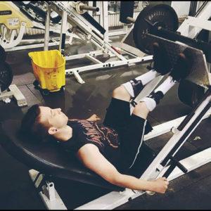 Joel at the gym.