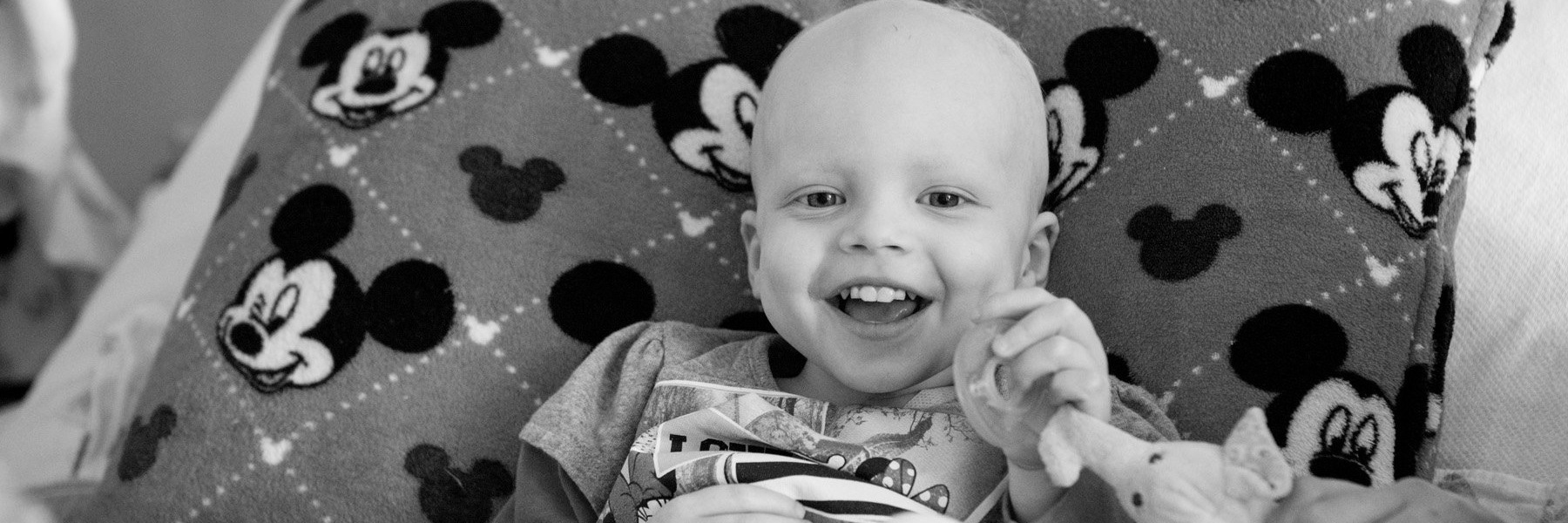 young cancer patient black and white