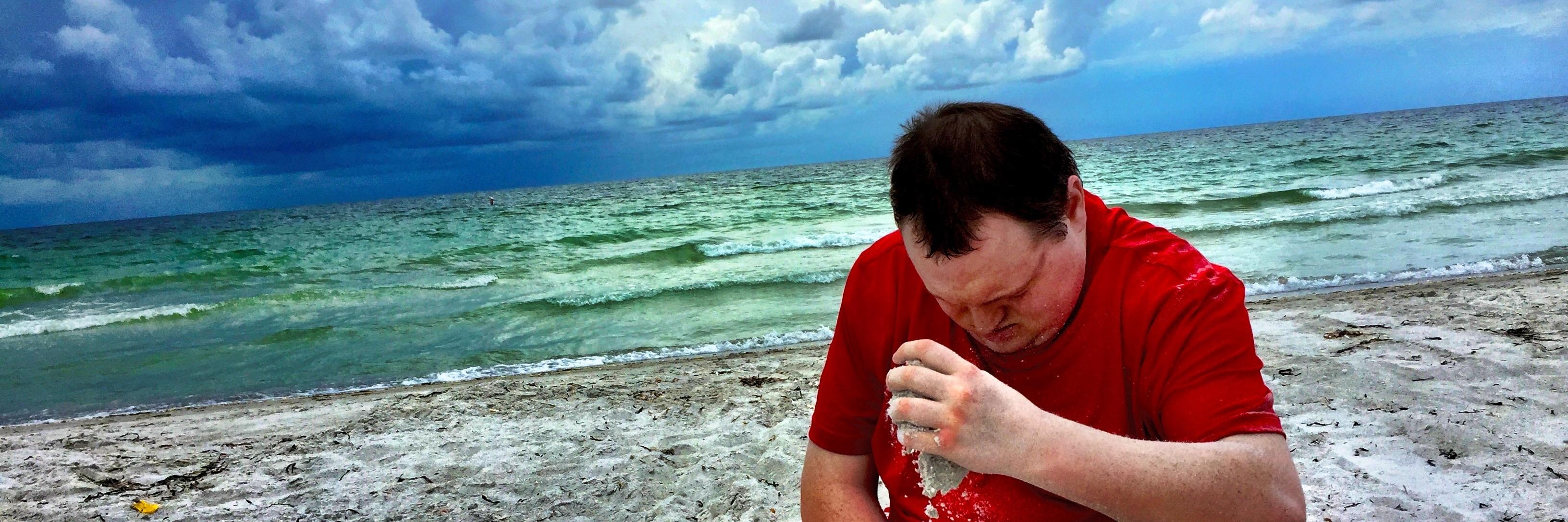 Matt on the beach.