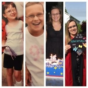 Annie Nason through the years from childhood to adulthood.