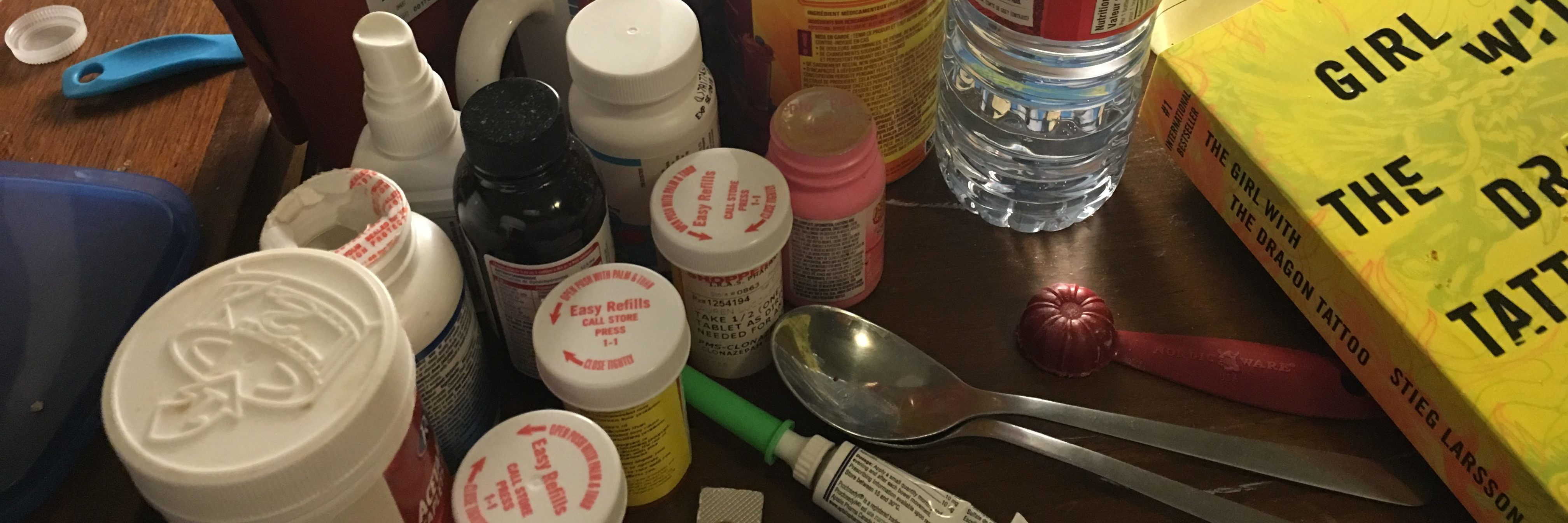 medications on bedside table