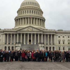 2017 Headache on the Hill participants in front of the U.S. Capitol.