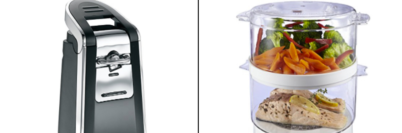 Electric Can Opener and Food Steamer