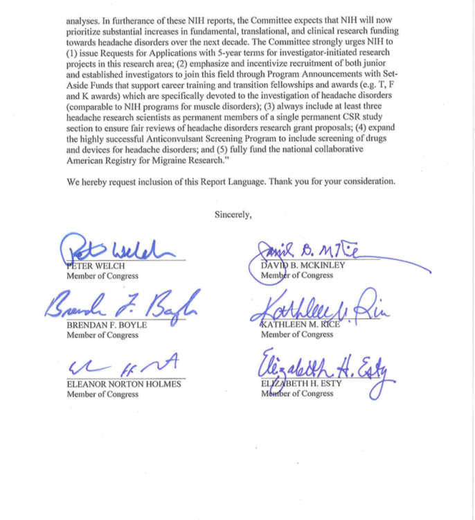 Page 2 of letter to the Subcommittee on Labor, Health and Human Services, Education and Related Agencies (LHHS).