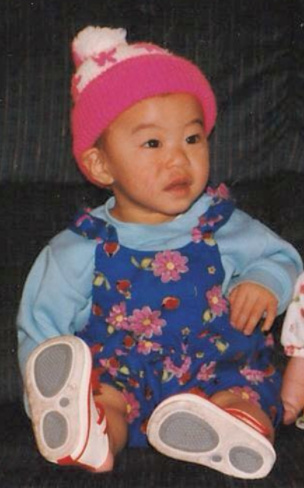 The author as a baby