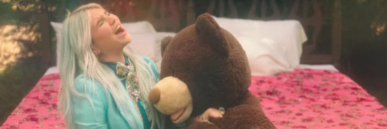Kesha in a music video
