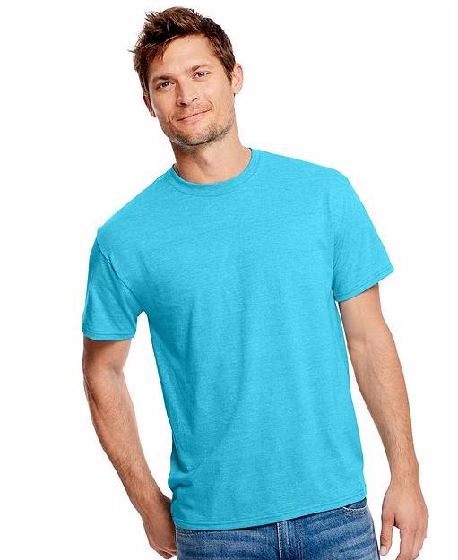 hanes blue t shirt