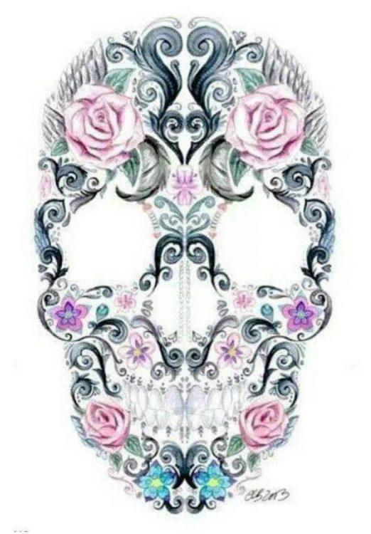 design of skull tattoo