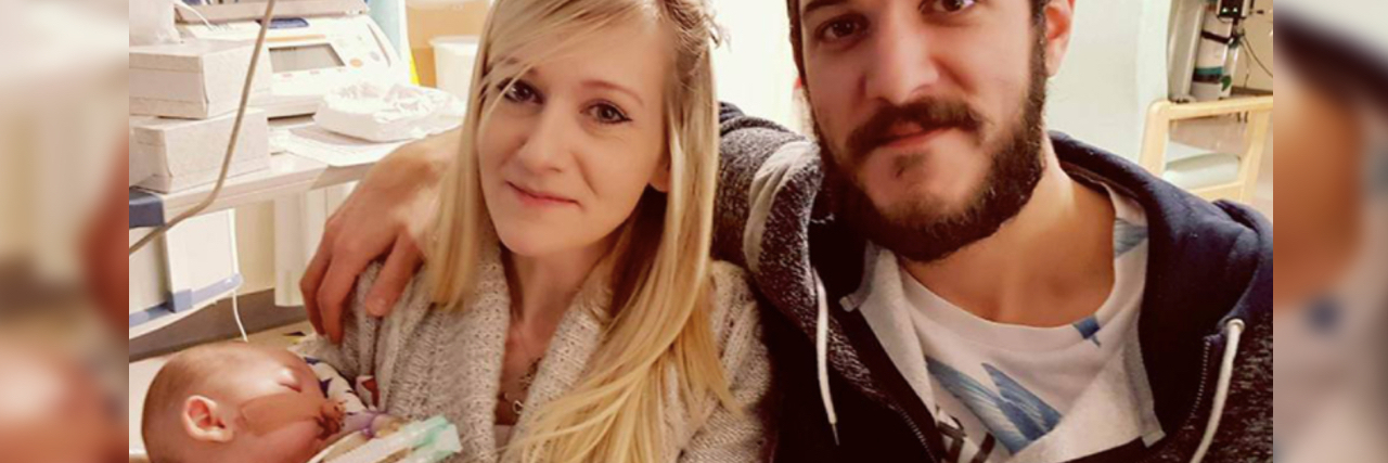 Connie Yates and Chris Gard holding their son Charlie Gard