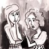 illustration of two women talking