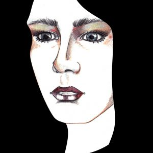 illustration of woman with black hair