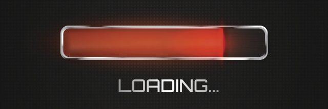 Red progress loading bar.