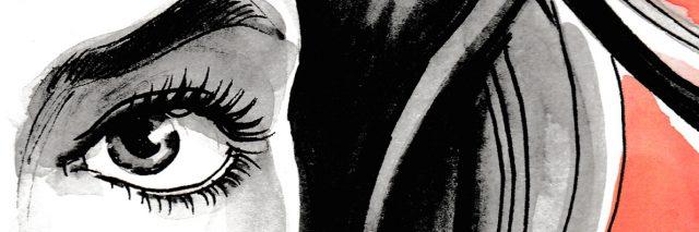 Watercolor sketch sketch of a woman