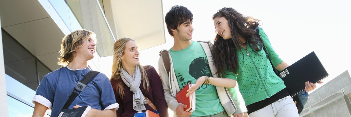 University students on campus.