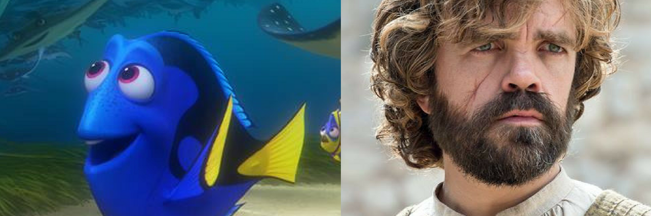 photo of dory next to photo of tyrion lannister