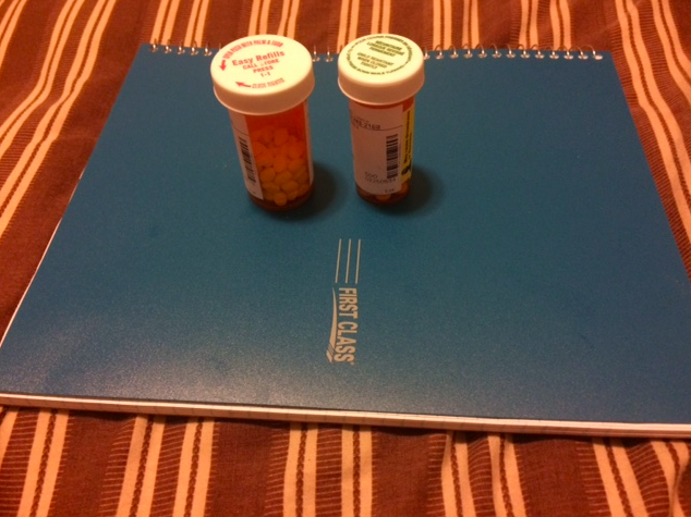 medication and journal