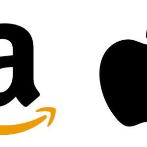 amazon and apple logo