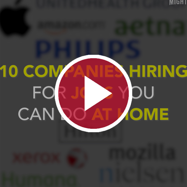 10 Companies Hiring for Jobs You Can Do at Home