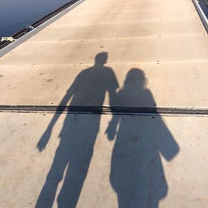 holding hands shadow