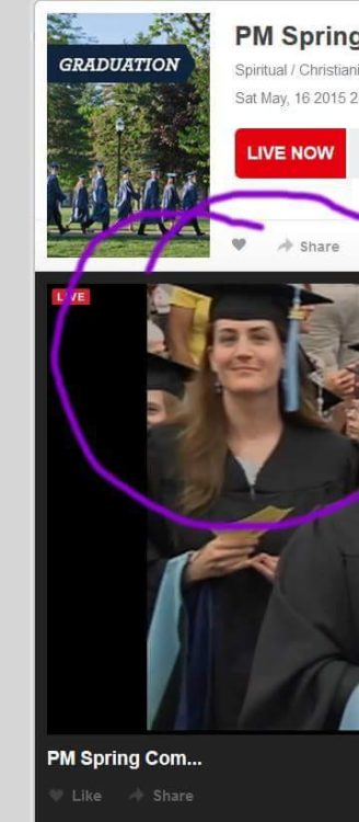 woman walking the stage after graduating with a master's degree