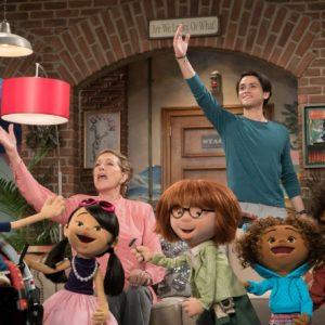 Julie's Greenroom Julie Andrews and puppet cast.