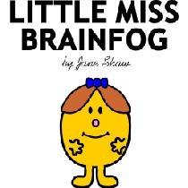 little miss brain fog cartoon