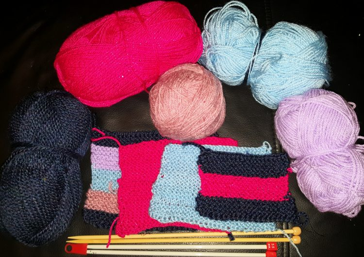 yarn and knitting projects