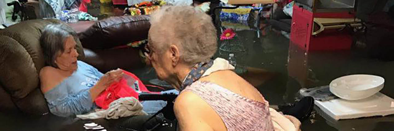 Nursing home residents in Texas were trapped in floodwaters after Hurricane Harvey.