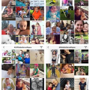 Collage of faces of people with Down syndrome