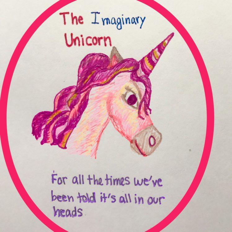 the imaginary unicorn mascot