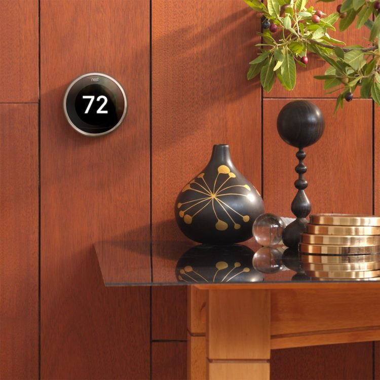 The Nest thermostat gives people with disabilities complete control over their home temperature via a smart phone app.