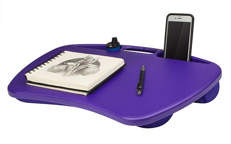 purple lap desk
