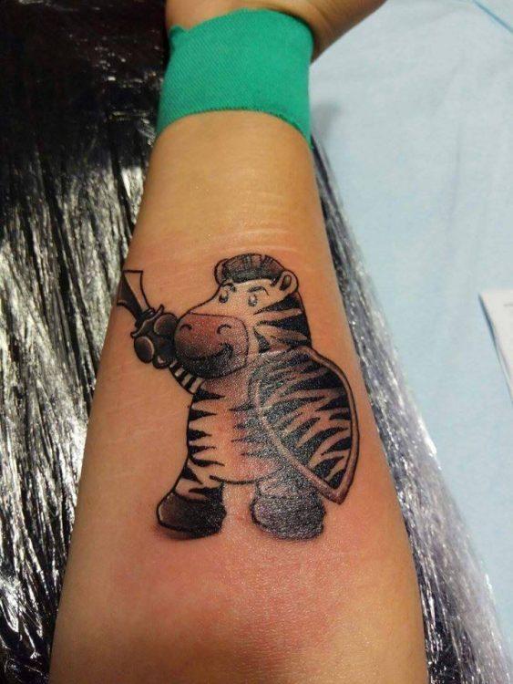 zebra warrior tattoo