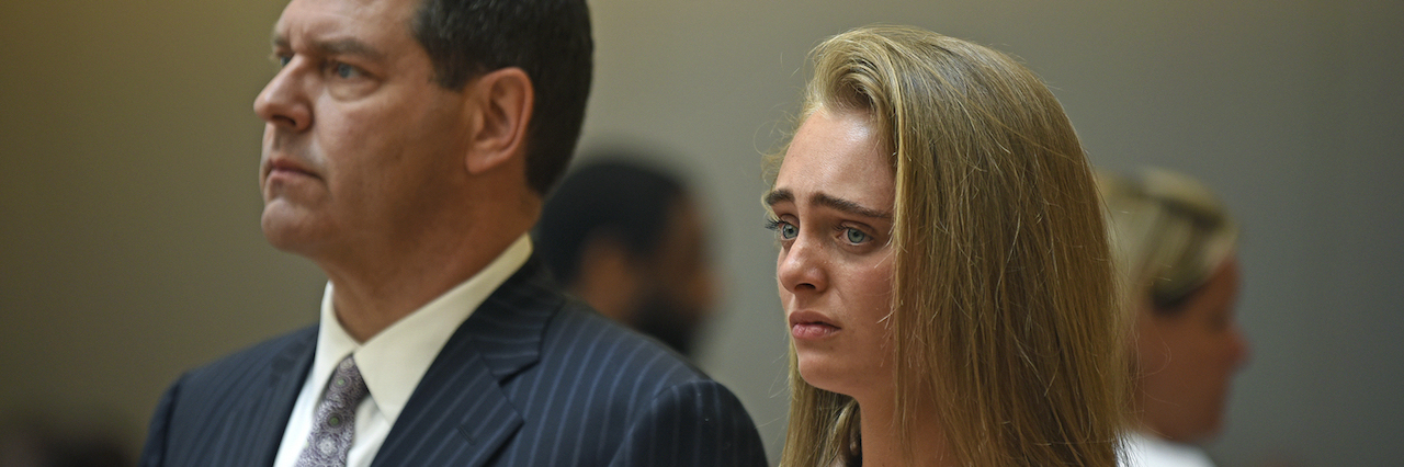 Michelle Carter and her lawyer