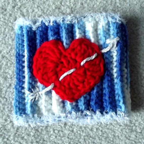 heart Crochet Picc Line Cover