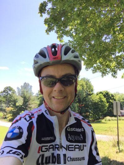 Dan Brown biking photo
